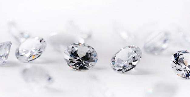 יהלומים לבנים יהלומים מלוטשים